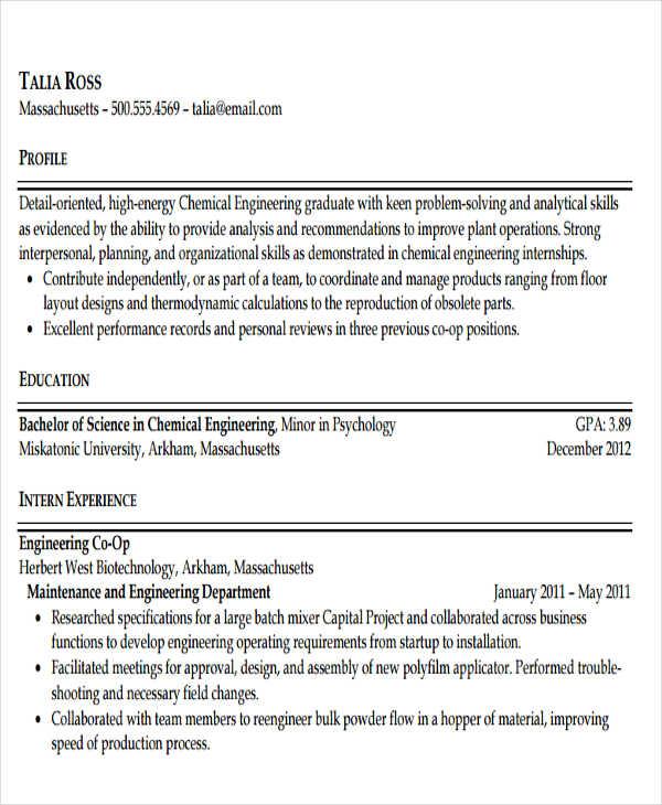 47+ Engineering Resume Samples - PDF, DOC Free  Premium Templates
