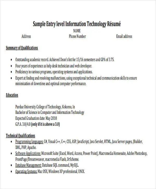 resume samples pdf for engineering