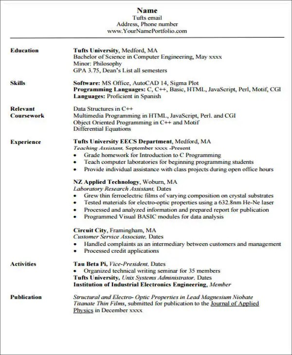 20+ Engineering Resume Templates in PDF Free  Premium Templates
