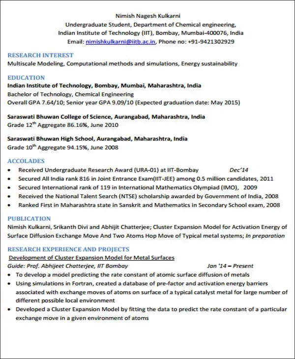 20+ Engineering Resume Templates in PDF Free  Premium Templates - chemical engineer resumes