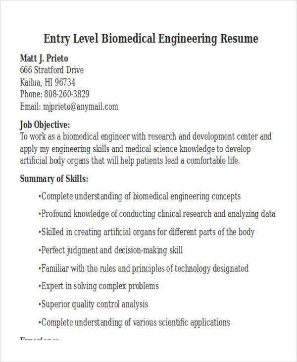 lecturer resume