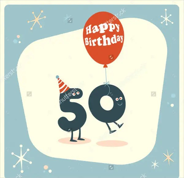 50th birthday card templates - Goalgoodwinmetals - template for a birthday card
