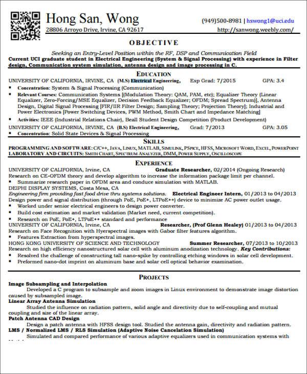 20+ Engineering Resume Templates in PDF Free  Premium Templates - engineering resumes
