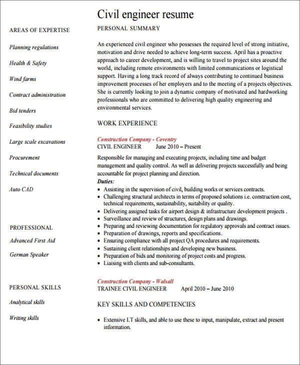 23 engineering resume templates in pdf free premium templates civil engineering resumes civil engineering resume
