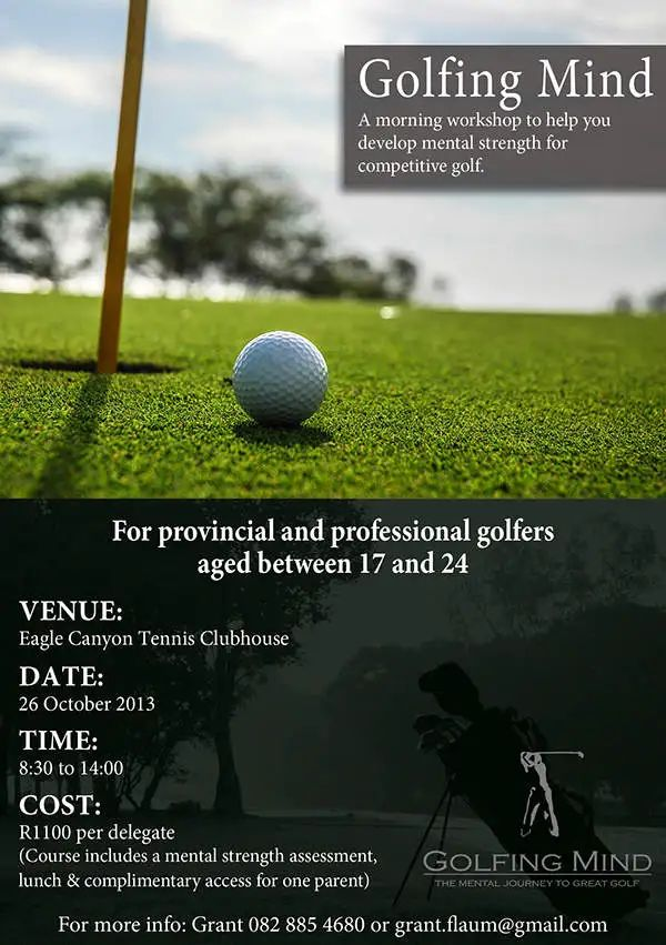 free golf flyer template word