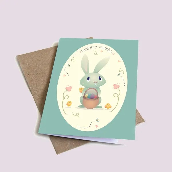 9+ Easter Greeting Card Templates Free \ Premium Templates - easter greeting card template