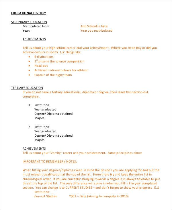 25+ Free Executive Resume Templates - PDF, DOC Free  Premium