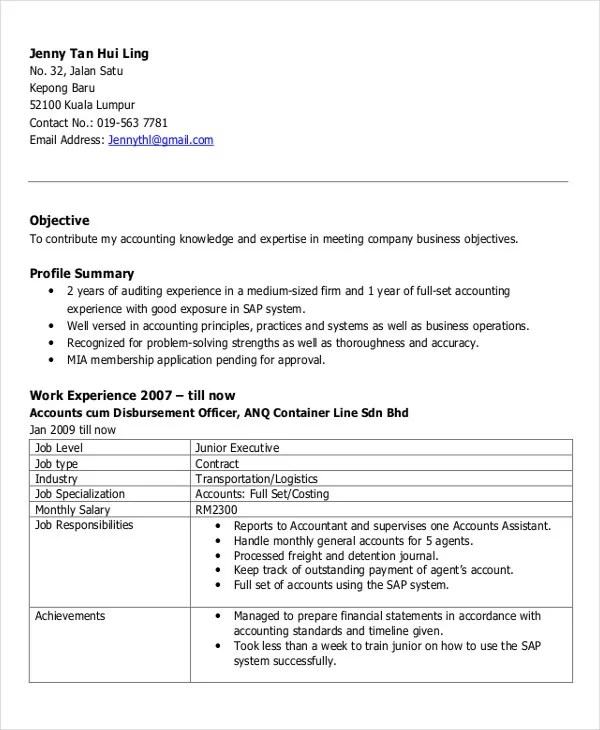 25+ Free Executive Resume Templates - PDF, DOC Free  Premium - profile on resume
