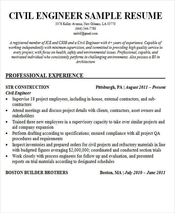 30+ Modern Engineering Resume Templates Free  Premium Templates - health and safety engineer sample resume