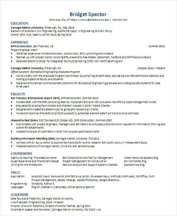 engineering modern resume template