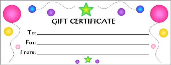 Free Gift Cards Free \ Premium Templates - printable gift certificates free template