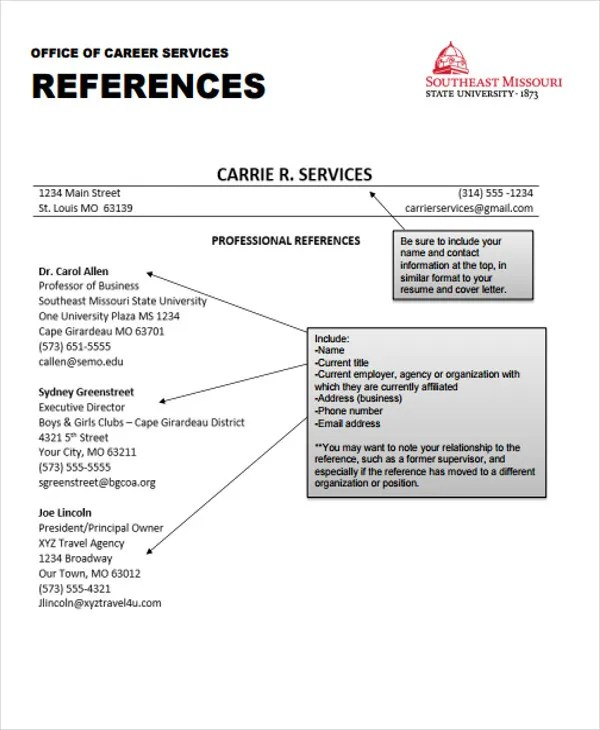 48+ Resume Formats Free \ Premium Templates - reference format for resume