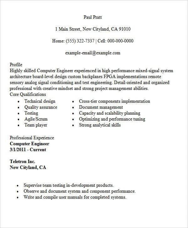 30+ Modern Engineering Resume Templates Free  Premium Templates