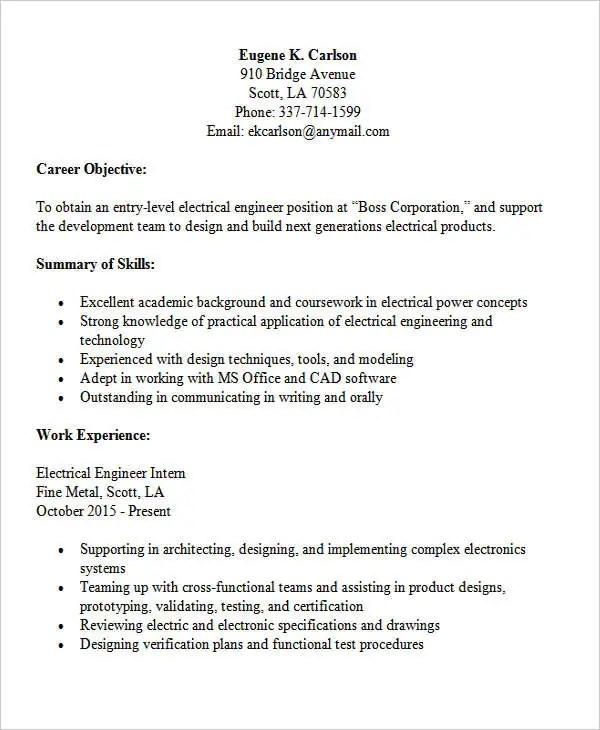 30+ Modern Engineering Resume Templates Free  Premium Templates - Resume Electrical Engineer