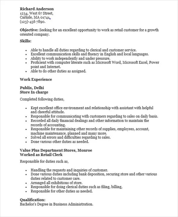 44+ Sales Resume Design Free \ Premium Templates - clerical duties resume
