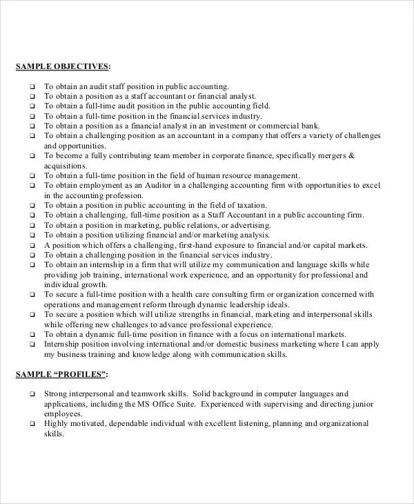 Entry Level Job Resume Template 26+ Accountant Resume Templates - Pdf, Doc | Free