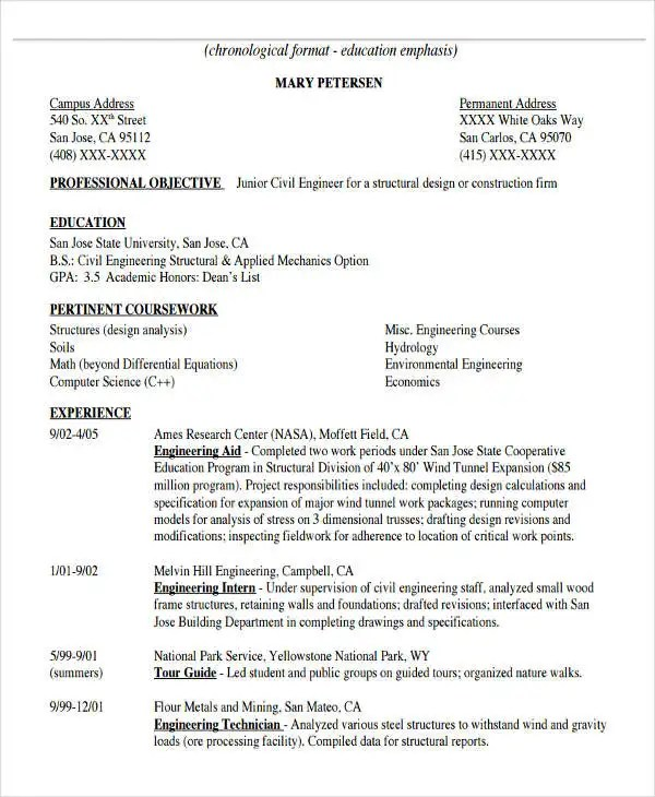 31+ Professional Engineering Resume Templates - PDF, DOC Free