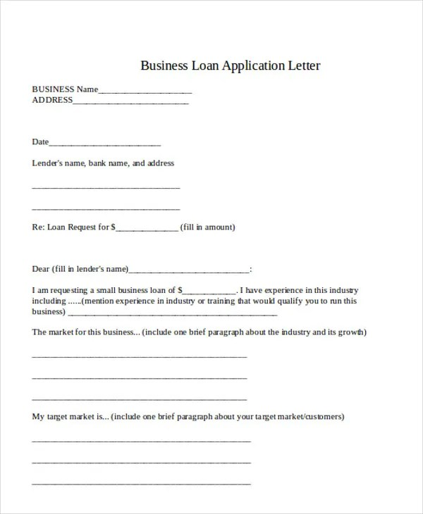 Application Letter For Bank Loan  Cv English Example Manager