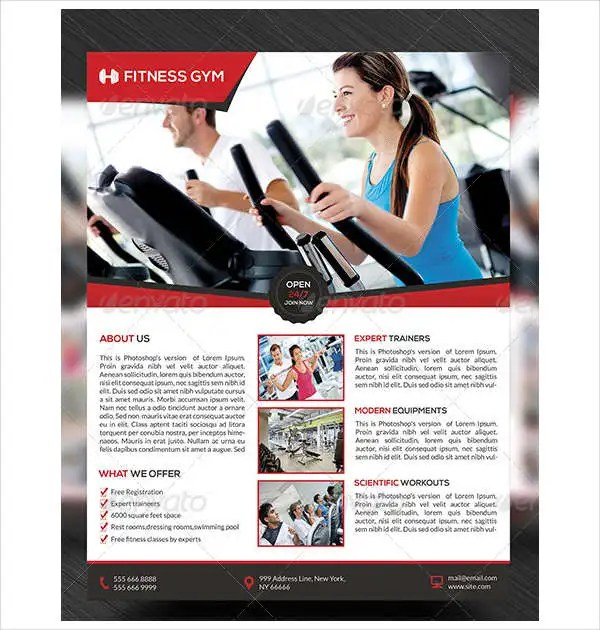 Fitness Flyer Templates Free  Premium Templates