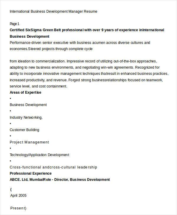 Top Result 60 New International Business Resume Sample Gallery 2017 - international business resume sample