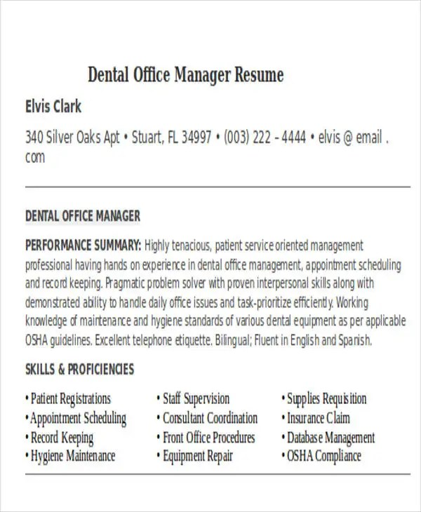 32+ Manager Resume Templates - PDF, DOC Free  Premium Templates - Office Manager Skills Resume
