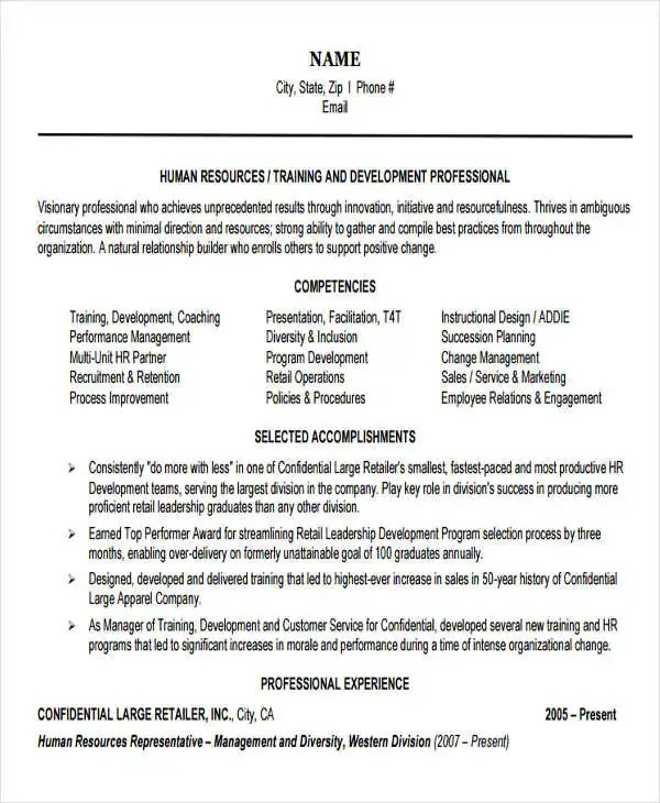 32+ Manager Resume Templates - PDF, DOC Free  Premium Templates - Hr Manager Resumes
