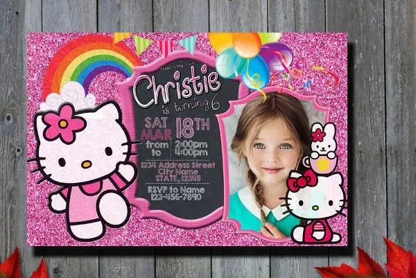 images of hello kitty invitations xv-gimnazija