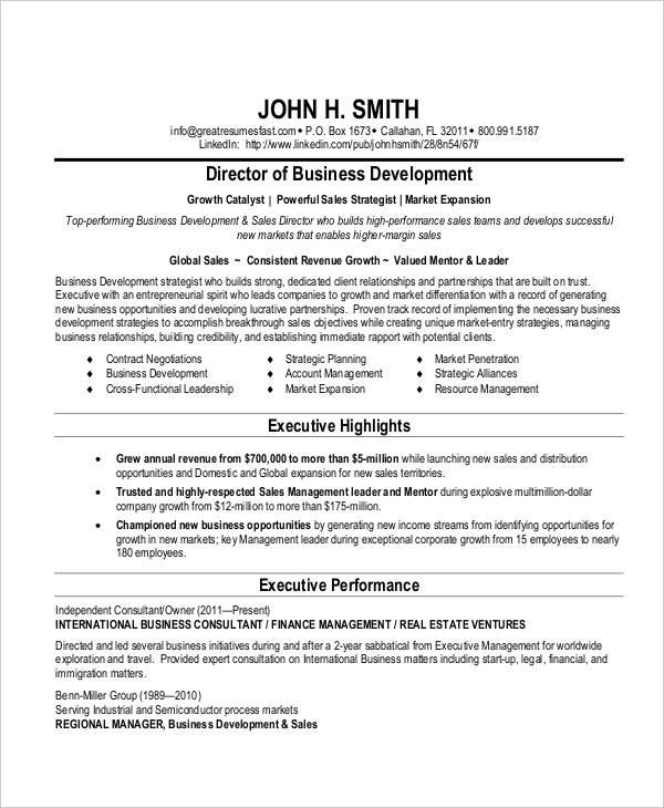 20+ Business Resume Templates - PDF, DOC Free  Premium Templates - International Business Resume