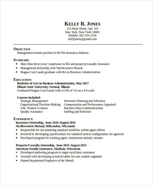 20+ Business Resume Templates - PDF, DOC Free  Premium Templates