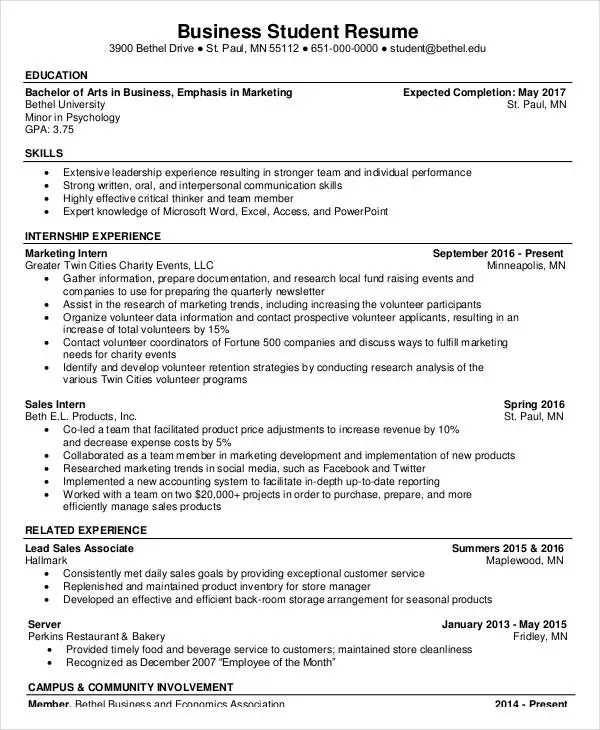 20+ Basic Business Resume Templates - PDF, DOC Free  Premium