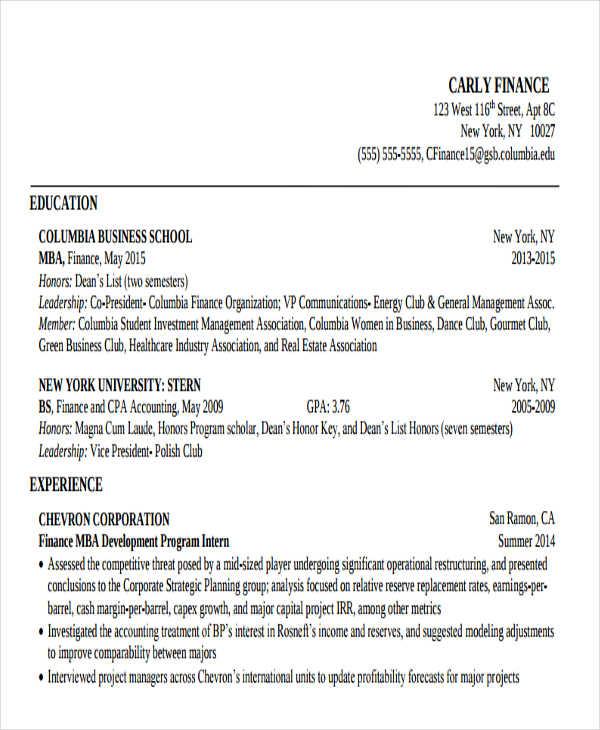 20+ Modern Business Resume Templates - PDF, DOC Free  Premium