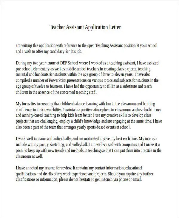43+ Formal Application Letter Template Free  Premium Templates - cover letter information