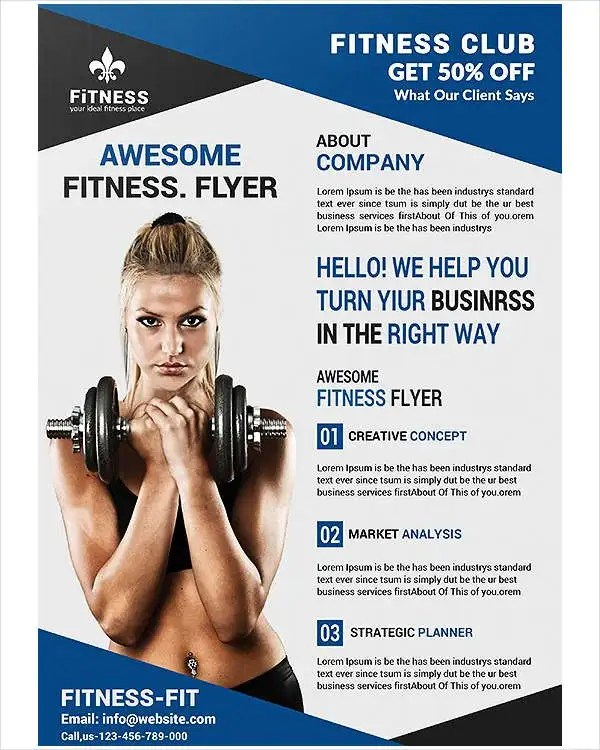 46+ Printable Fitness Flyers Free  Premium Templates