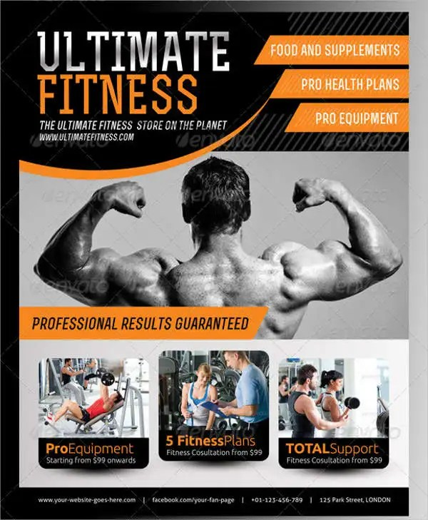 43+ Printable Fitness Flyers - PSD, EPS Free  Premium Templates