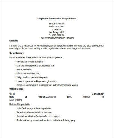 50+ Administration Resume Samples - PDF, DOC | Free & Premium Templates