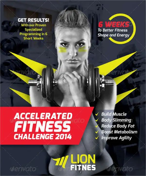fitness flyers templates
