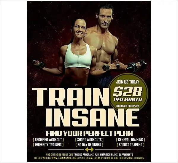 46+ Printable Fitness Flyers Free  Premium Templates