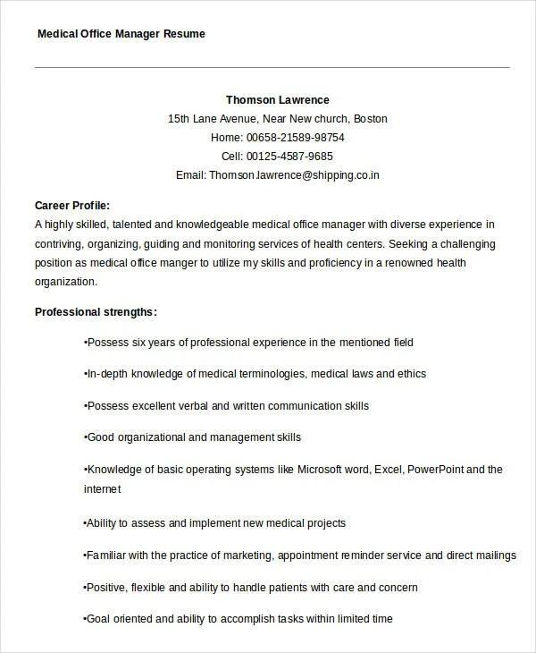 Medical Director Resume Sample \u2013 resume