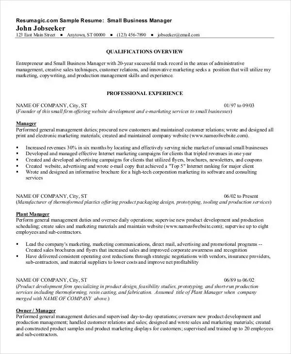 40+ Free Manager Resume Templates - PDF, DOC Free  Premium Templates - Sample Product Marketing Manager Resume