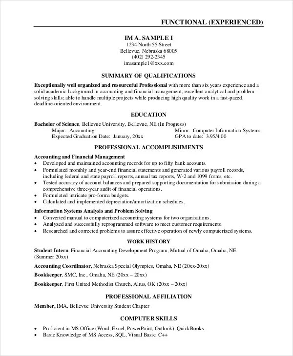 Best Business Resume - 30+ Free Word, PDF Document Download Free