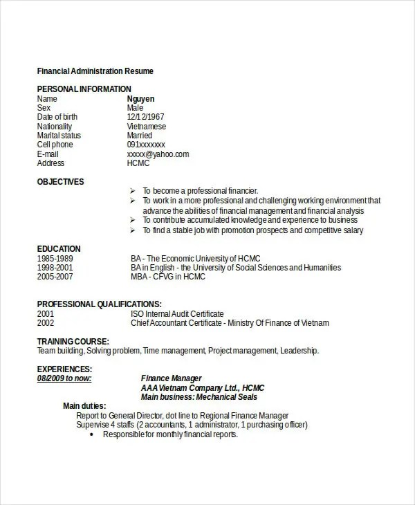 chief administrative officer resume best sle chief administrative - chief administrator resume