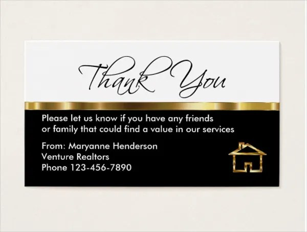70+ Thank You Card Designs Free  Premium Templates