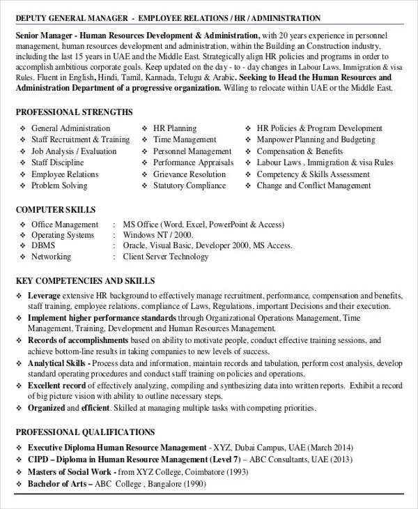 Administration Resume Examples - 28+ Free Word, PDF Documents - benefits administrator resume