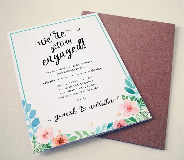 20+ Free Engagement Invitations -Free PSD,Vector AI,EPS Format