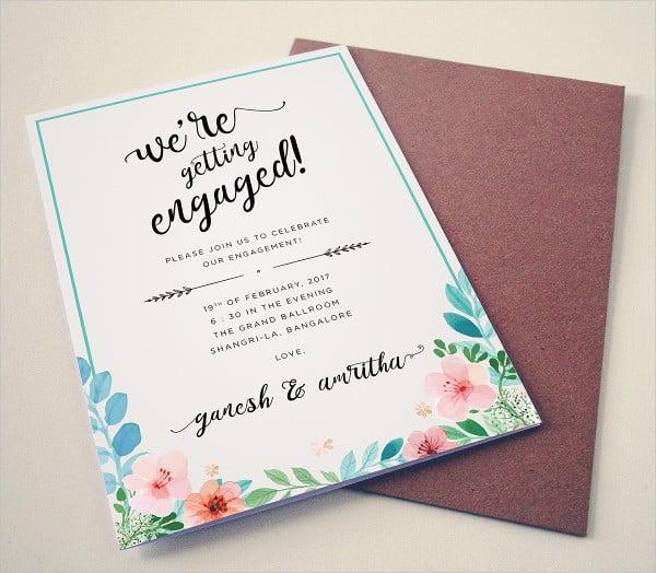 Engagement invitation format templatebillybullockus – Engagement Invitation Templates Free Printable