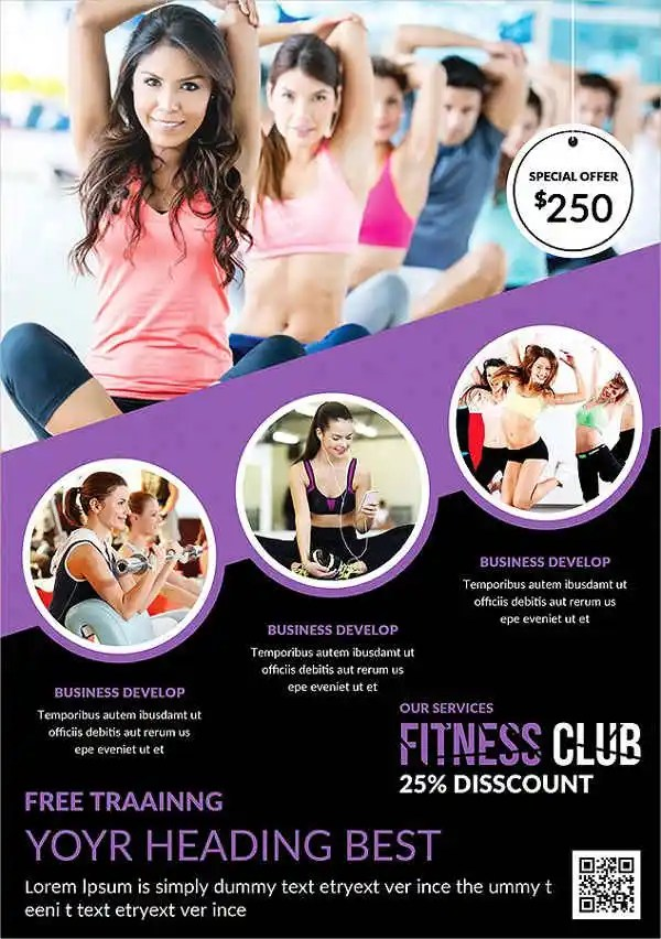 56+ Fitness Flyer Examples - PSD, AI, EPS Free  Premium Templates