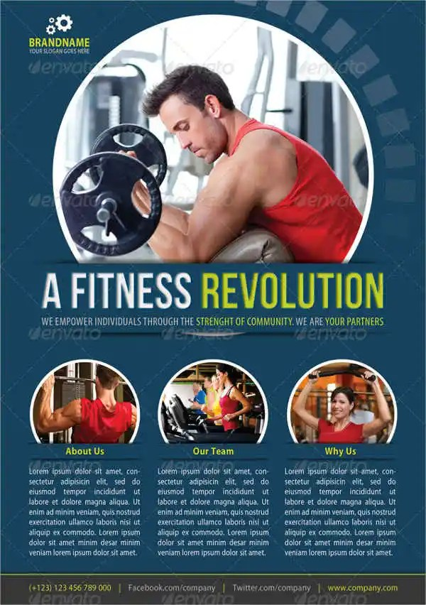 Fitness Flyer Examples Free  Premium Templates