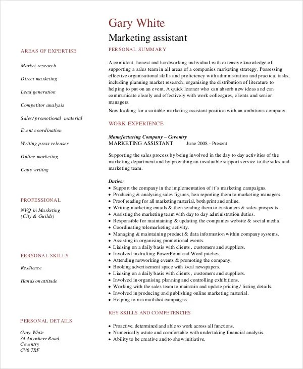 assistant marketing manager resume sample - Ozilalmanoof - farmers market manager sample resume