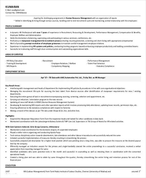49+ Professional Manager Resumes - PDF, DOC Free  Premium Templates - bakery manager resume