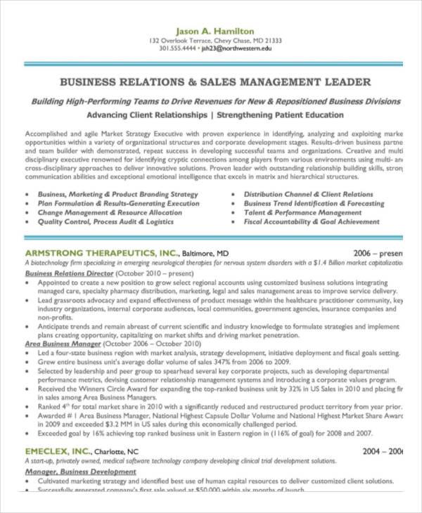 40+ Free Manager Resume Templates - PDF, DOC Free  Premium Templates